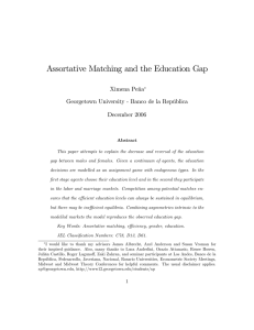 Assortative Matching and the Education Gap