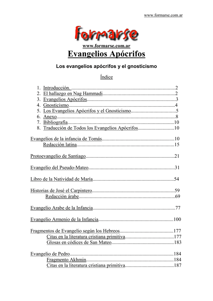 Los evangelios apócrifos y el gnosticismo
