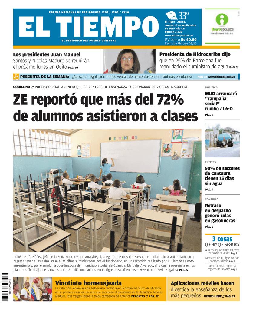 ZE reportó que más del 72% de alumnos asistieron a