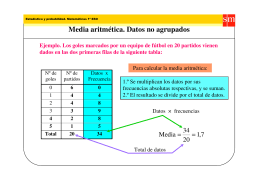 Media aritmética. Datos no agrupados
