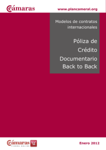 Póliza de Crédito Documentario Back to Back