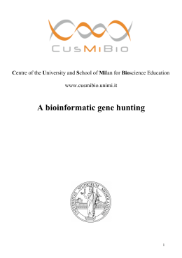 A bioinformatic gene hunting
