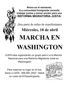 MARCHA EN WASHINGTON