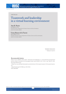 Teamwork and leadership in a virtual learning environment