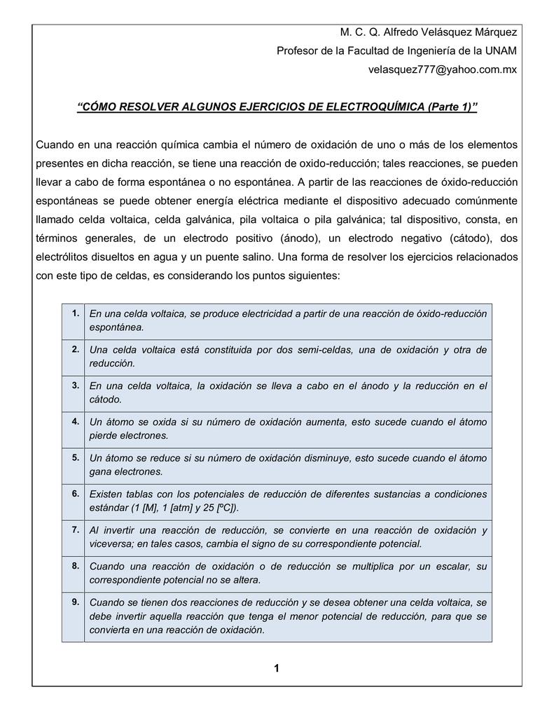 """ff2760fd M. C. Q. Alfredo Velásquez Márquez Profesor de la Facultad de Ingeniería de  la UNAM velasquez777@yahoo.com.mx """"CÓMO RESOLVER ALGUNOS EJERCICIOS DE ..."""