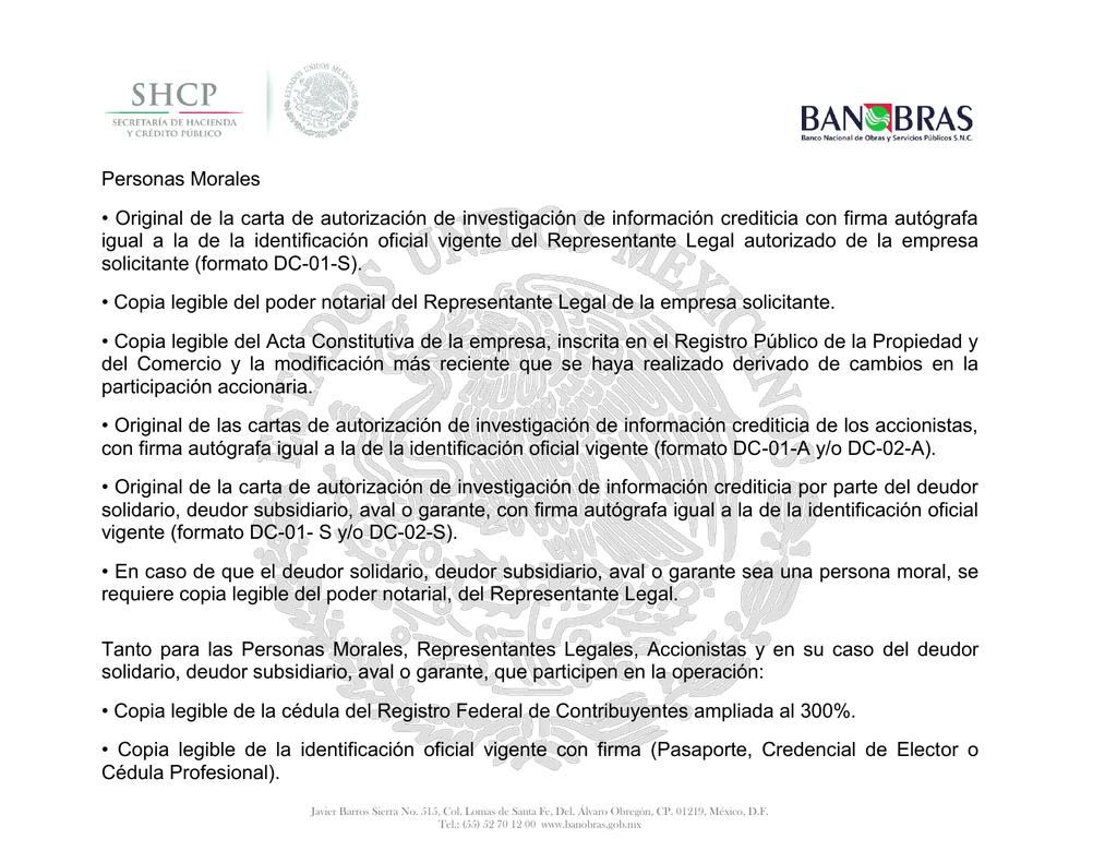 Personas Morales Original De La Carta De Autorización De