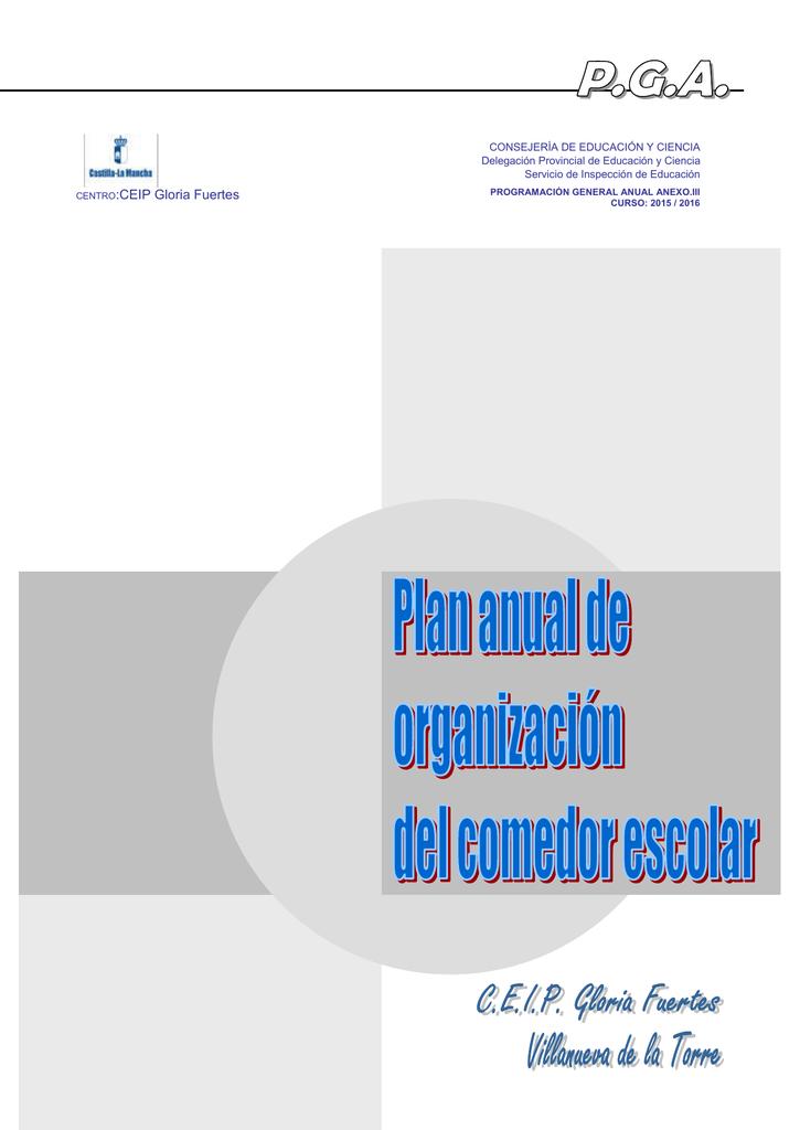 PROYECTO DE ORGANIZACIÓN DEL COMEDOR ESCOLAR