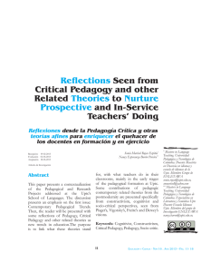 Reflections Seen from Critical Pedagogy and other Related