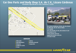 Car One Parts and Body Shop SA de CV, Lázaro