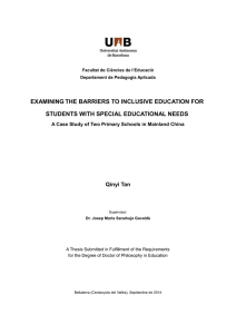 examining the barriers to inclusive education for students with