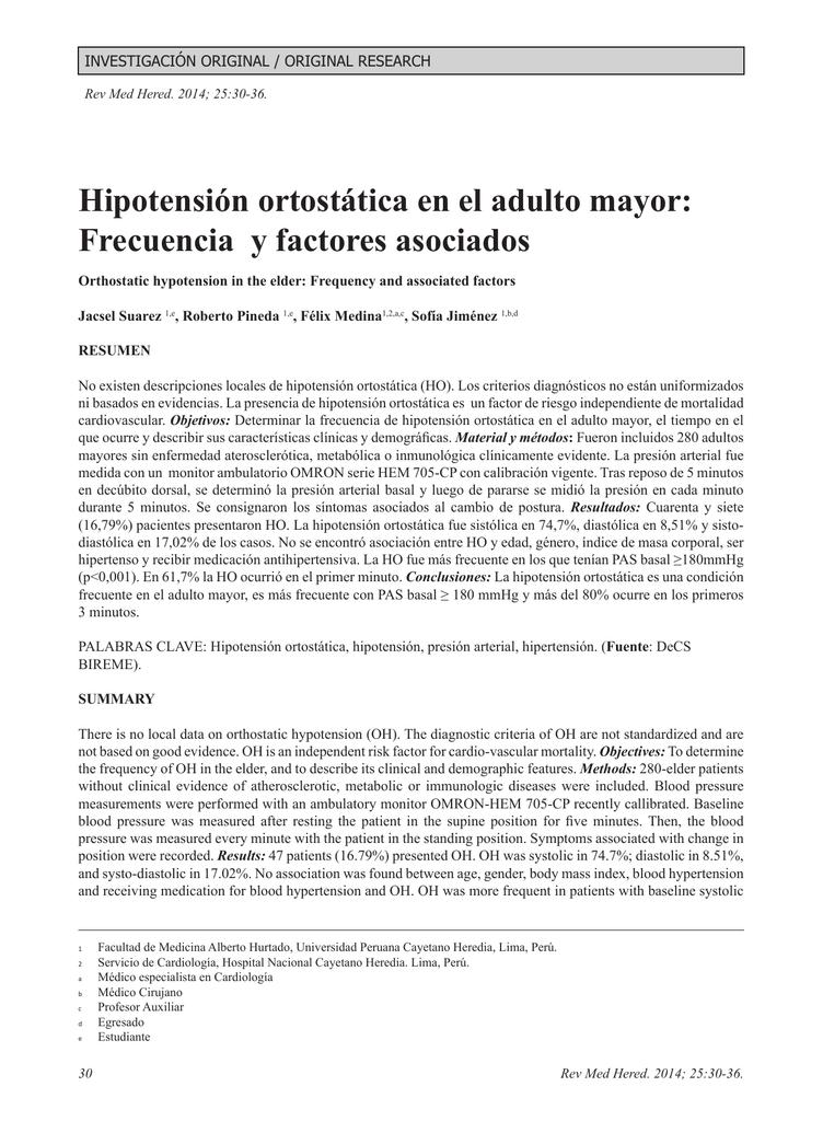 ¿Cómo se prueba la hipotensión ortostática?