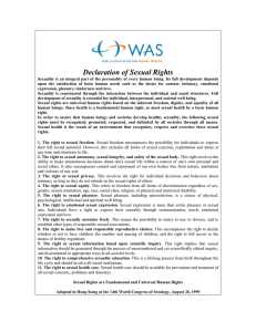 Declaration of Sexual Rights - World Association for Sexual Health