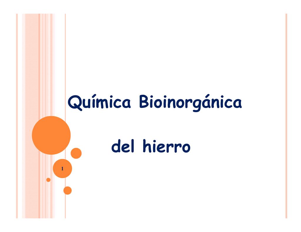 Química Bioinorgánica Del Hierro