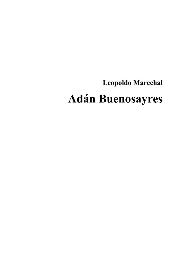 Adán Buenosayres