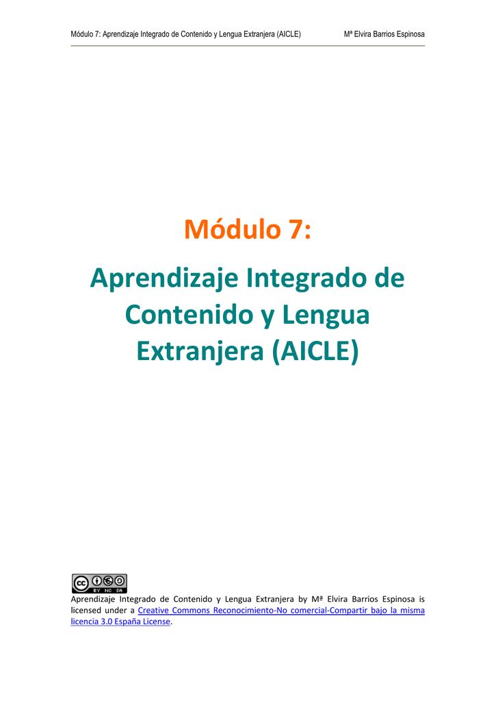Aprendizaje Integrado De Contenido Y Lengua Extranjera Aicle