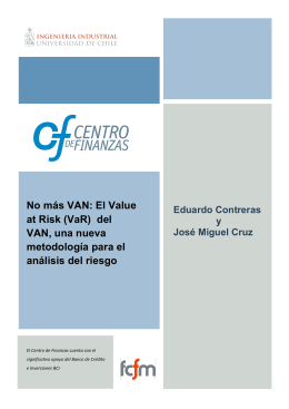 No más VAN: El Value at Risk (VaR) del VAN