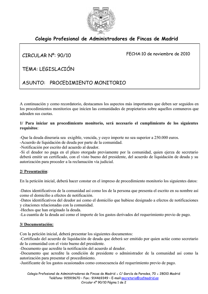 Colegio Profesional De Administradores De Fincas De