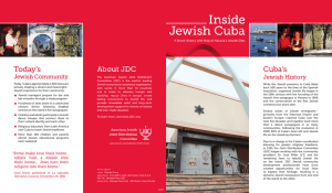 Jewish Cuba Inside - American Jewish Joint Distribution Committee
