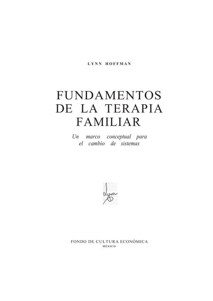 FUNDAMENTOS DE LA TERAPIA FAMILIAR