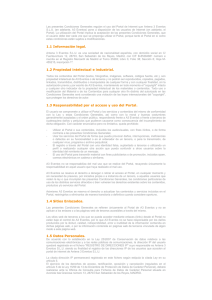 Advertencia Legal - Antena 3 Eventos
