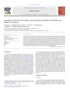 Association of bovine meat quality traits with genes included in the