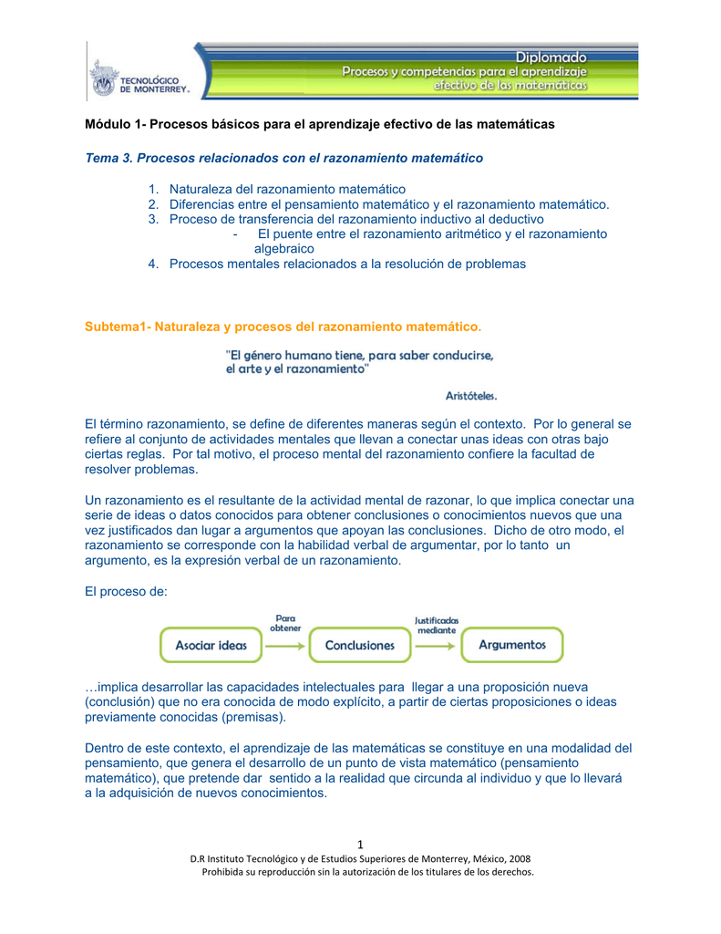 1 Módulo 1 Procesos Básicos Para El Aprendizaje Efectivo De Las