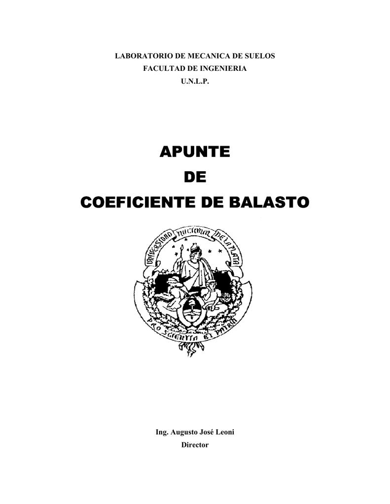 Apunte De Coeficiente De Balasto Coeficiente De