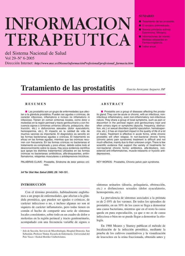 definir prostatitis aguda