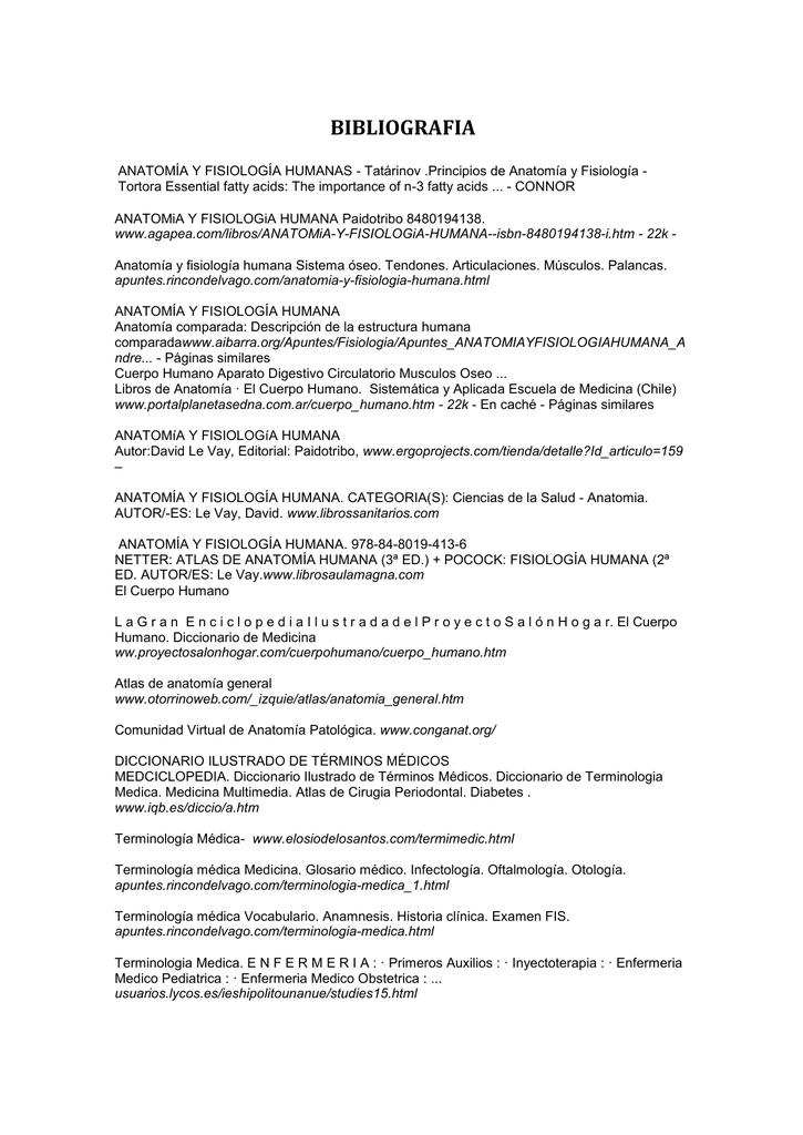 Curso Registro Informacion de Salud Bibliografia