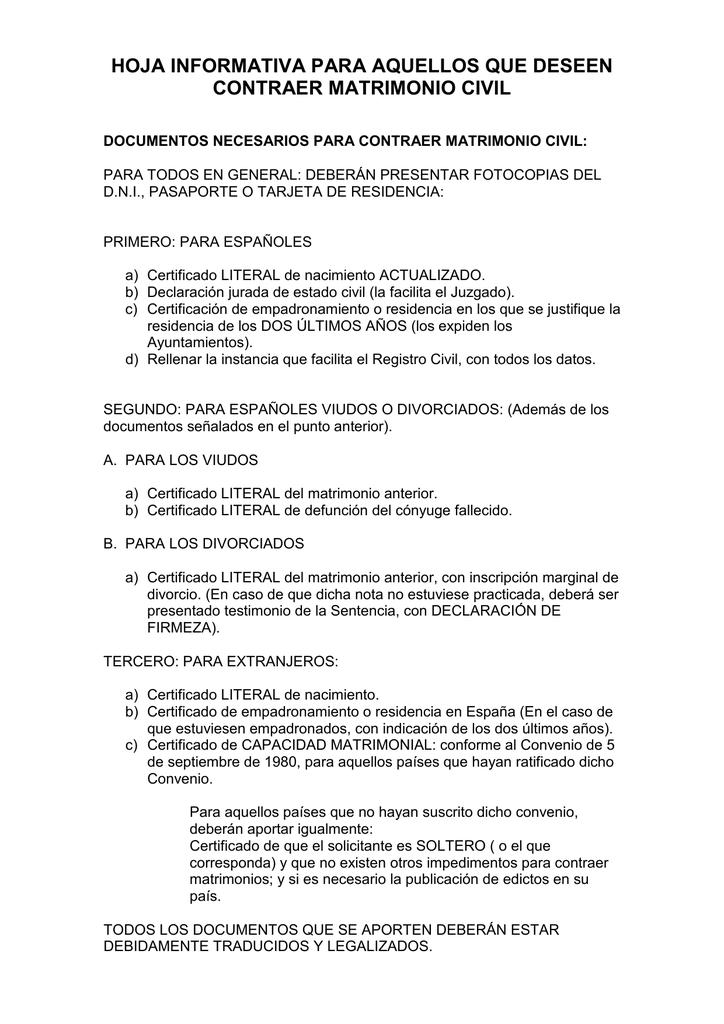 Excepcional Declaración Jurada El Certificado De Nacimiento ...