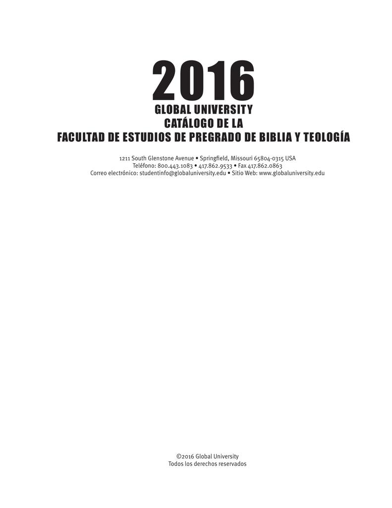 global university catálogo de la facultad de estudios de pregrado