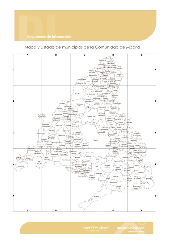 Municipios De Madrid Mapa.Die Mapa Y Listado De Municipios Comunidad De Madrid