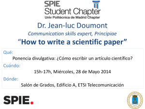 "Dr. Jean-luc Doumont ""How to write a scientific paper"""