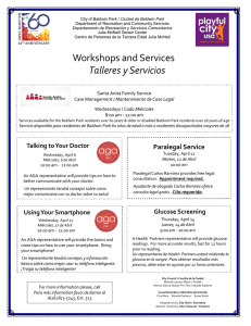 Workshops and Services Talleres y Servicios
