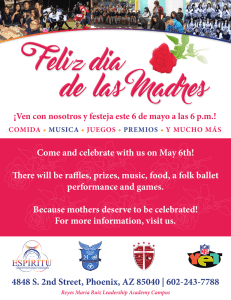 Come and celebrate with us on May 6th! There will be raffles, prizes