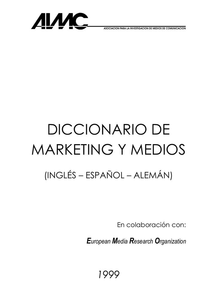 diccionario de marketing y medios