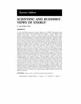 SCIENTIFIC AND BUDDHIST VIEWS OF ENERGY