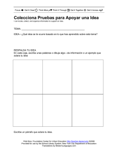 Collect Evidence to Support an Idea in Spanish
