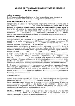 Contrato de promesa de venta de inmueble for Contrato de arrendamiento de oficina