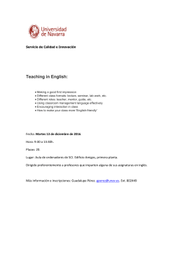 Teaching in English: