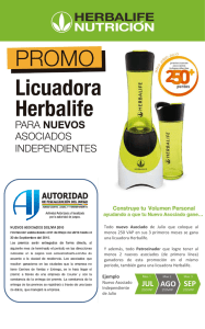 JUL AGO SEP - Esto es Herbalife