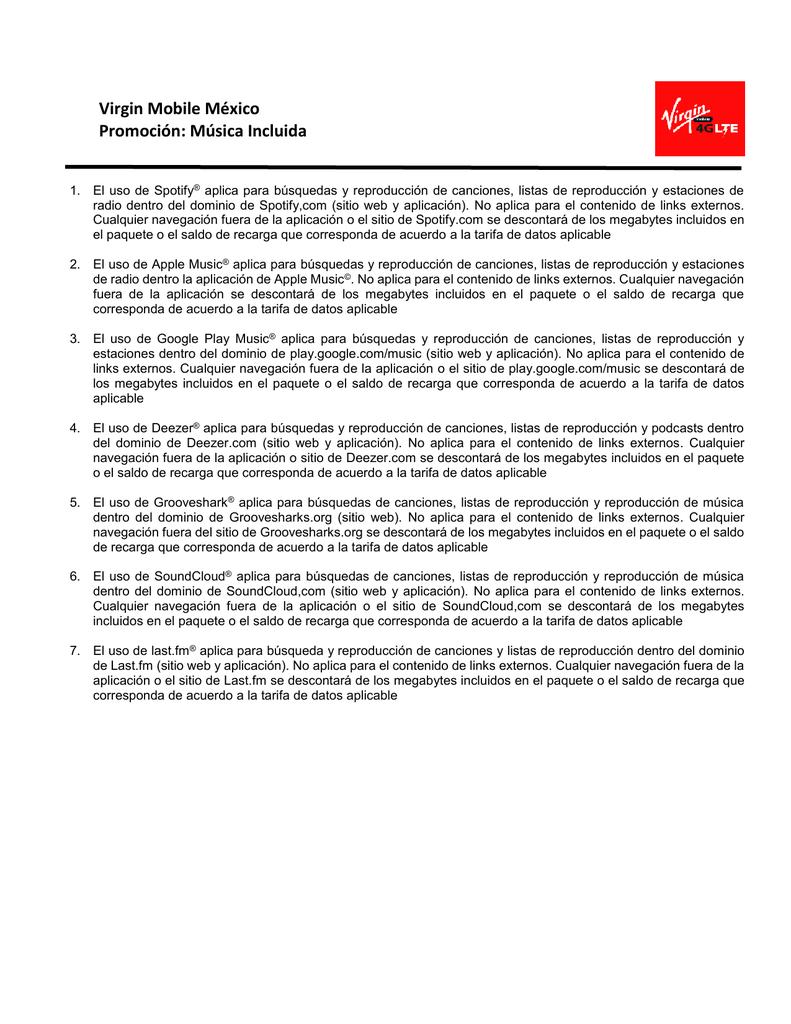 Virgin Mobile México Promoción: Música Incluida