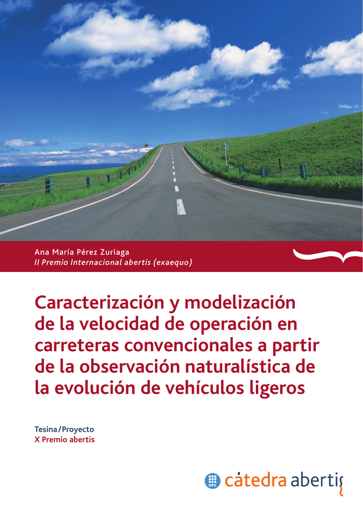 Caracterización y modelización de la velocidad de operación en
