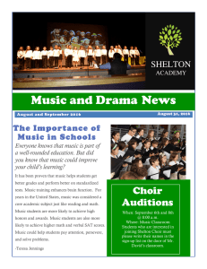 Music and Drama News