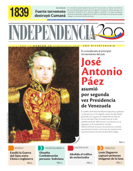 José Antonio Páez - Independencia 200