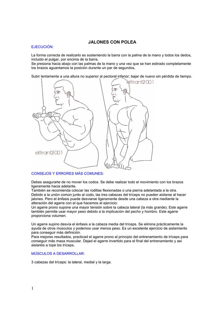 Ejercicio para triceps con polea