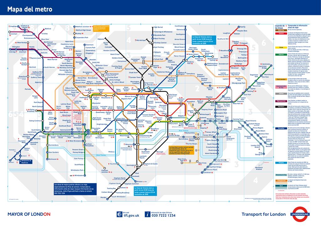 Mapa De Londres Pdf.Mapa Del Metro De Londres En Pdf Mapa