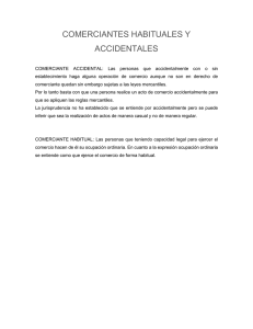 COMERCIANTES HABITUALES Y ACCIDENTALES