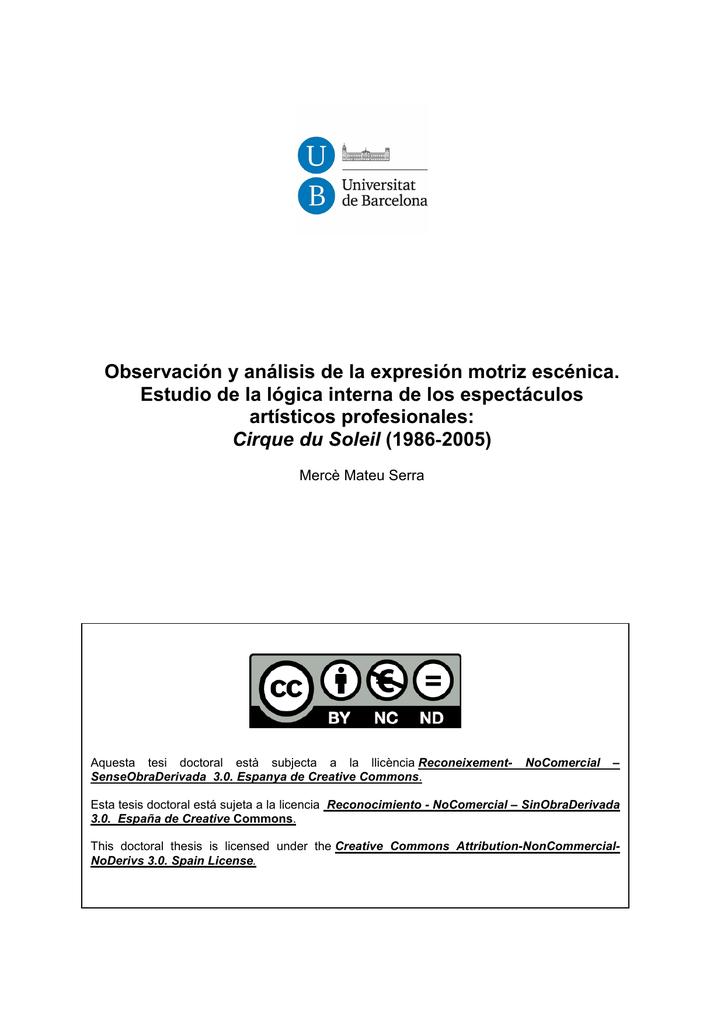 Observación y análisis de la expresión motriz escénica. Estudio de