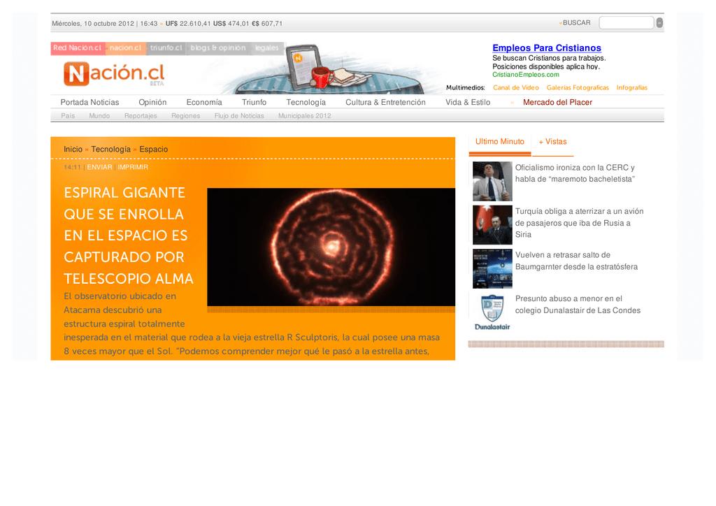 Nacion Cl Espiral Gigante Que Se Enrolla En El Espacio Es